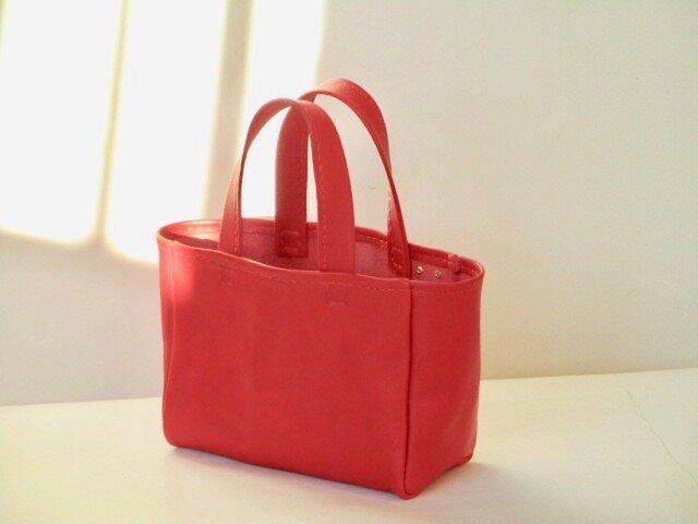 イタリア革のミニミニバッグ 「パパベロ」(赤)の画像1枚目