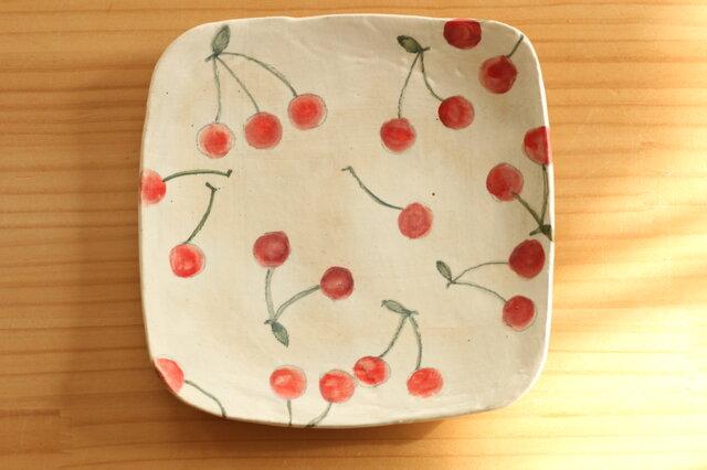 粉引きサクランボのトースト皿の画像1枚目