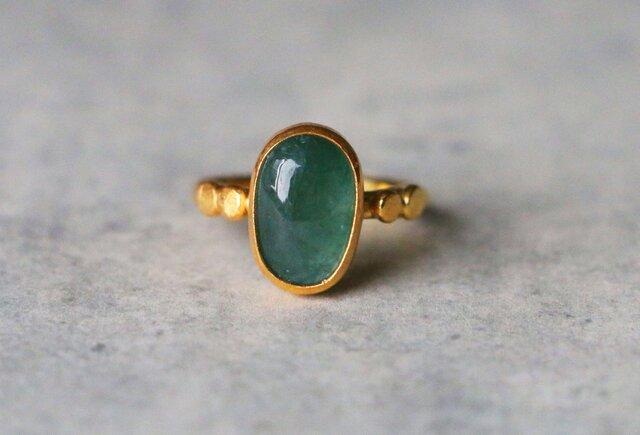 古代スタイル*天然グランディディエライト 指輪*9.5号 GPの画像1枚目