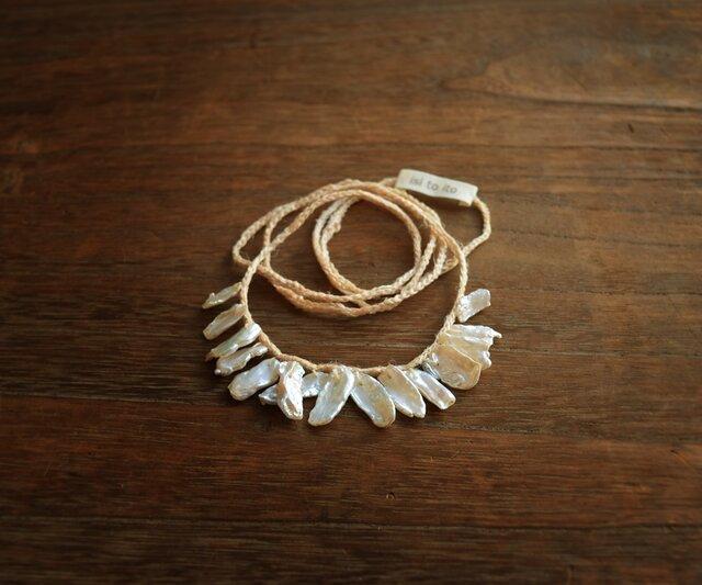 【送料無料】ケシパールのネックレスの画像1枚目