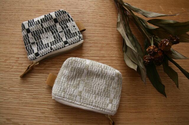 北欧手織りポーチ(黒)(小)の画像1枚目