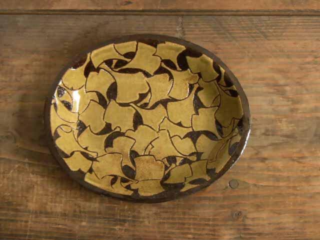 銀杏のオーバル皿の画像1枚目