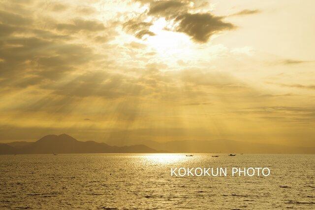 有明海の薄明光線「ポストカード5枚セット」の画像1枚目
