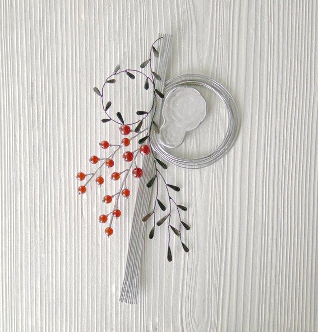 ガラスのお正月飾り Bの画像1枚目