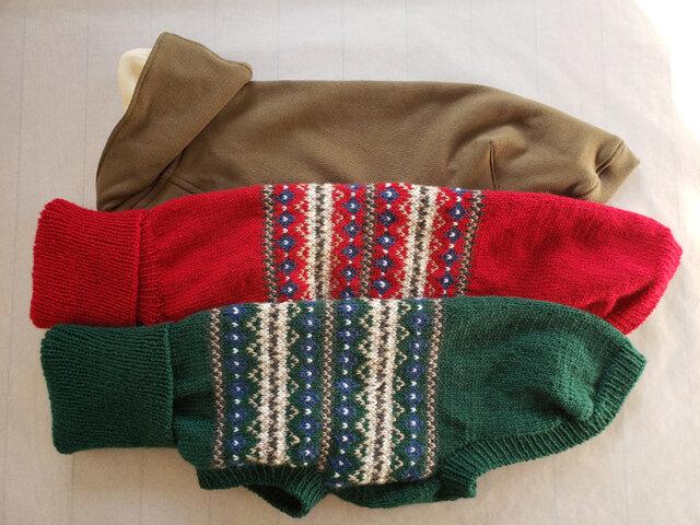 犬服 N様オーダーメイド品ウィペット用パーカー&セーターとサルーキ用セーターの画像1枚目