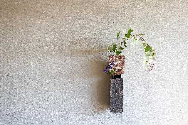 伊豆土の掛花(茶×グレー)の画像1枚目