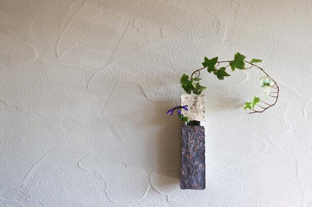 伊豆土の掛花(アイボリー×濃茶)の画像1枚目