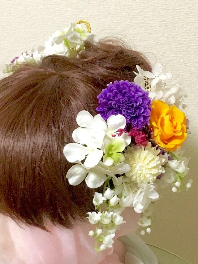 成人式 すずらんの和風髪飾りパーツセットの画像1枚目