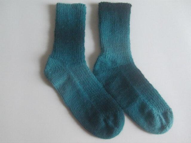 手編み靴下【Woolly Hugs イヤーソックス 08】の画像1枚目