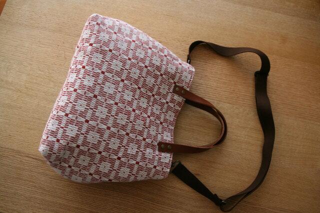 北欧手織りトートバッグ(赤)の画像1枚目