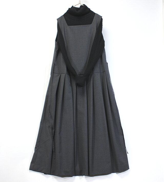 裏付きジャンパースカート(チャコールグレー)の画像1枚目
