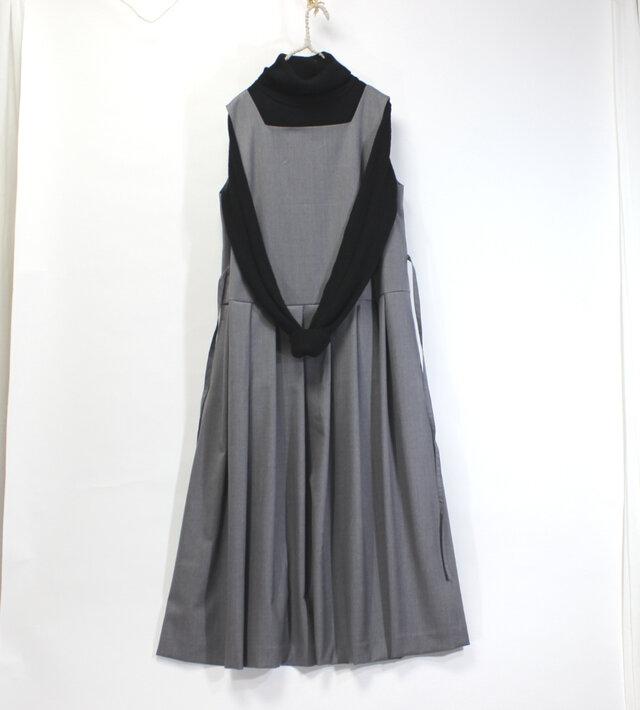 裏付きジャンパースカート(グレー)の画像1枚目