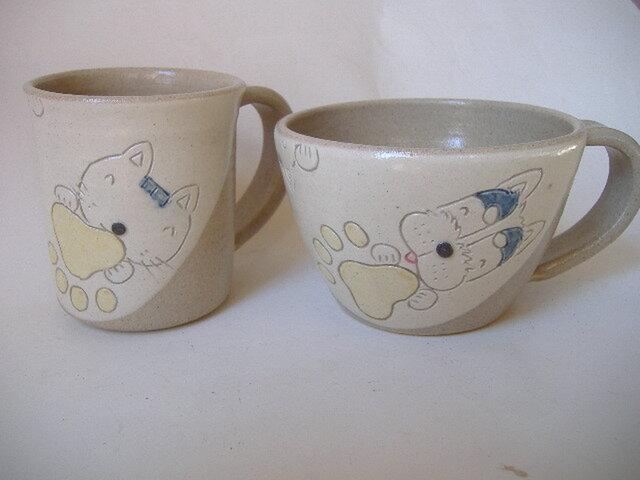 【SALE】理由有りniku.Qマグカップとスープカップの画像1枚目