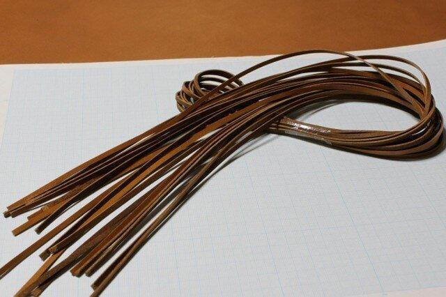 本革紐(キャメル)3mm幅×1M×10本 裏面(床面)毛羽処理済の画像1枚目