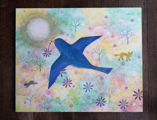 絵画「時空を繋ぐ鳥」の画像1枚目