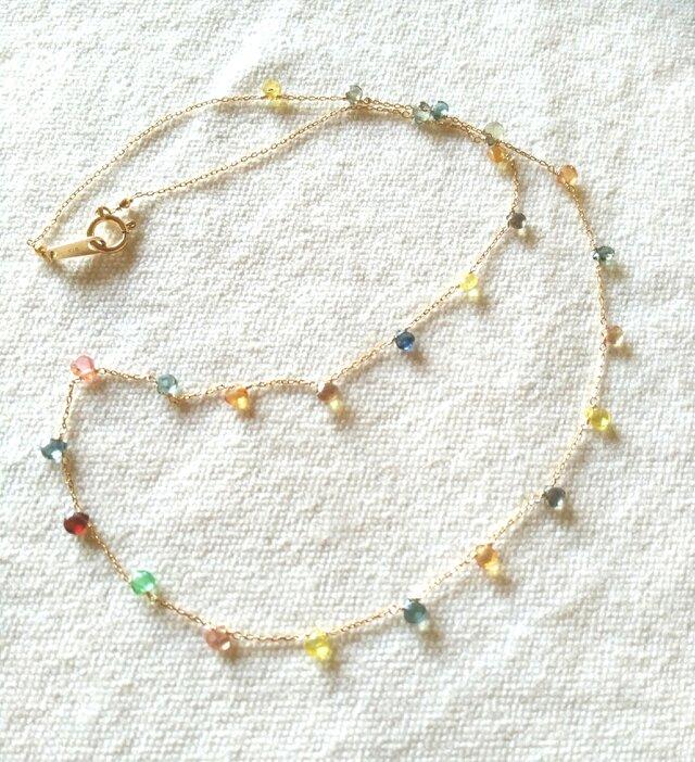 K18 baby marron sapphire necklaceの画像1枚目