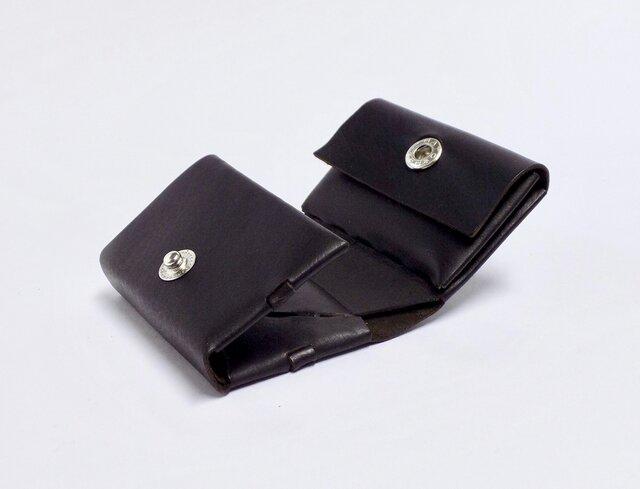 三つ折り財布 イタリアンカーフ ブラウン/組み立ての画像1枚目