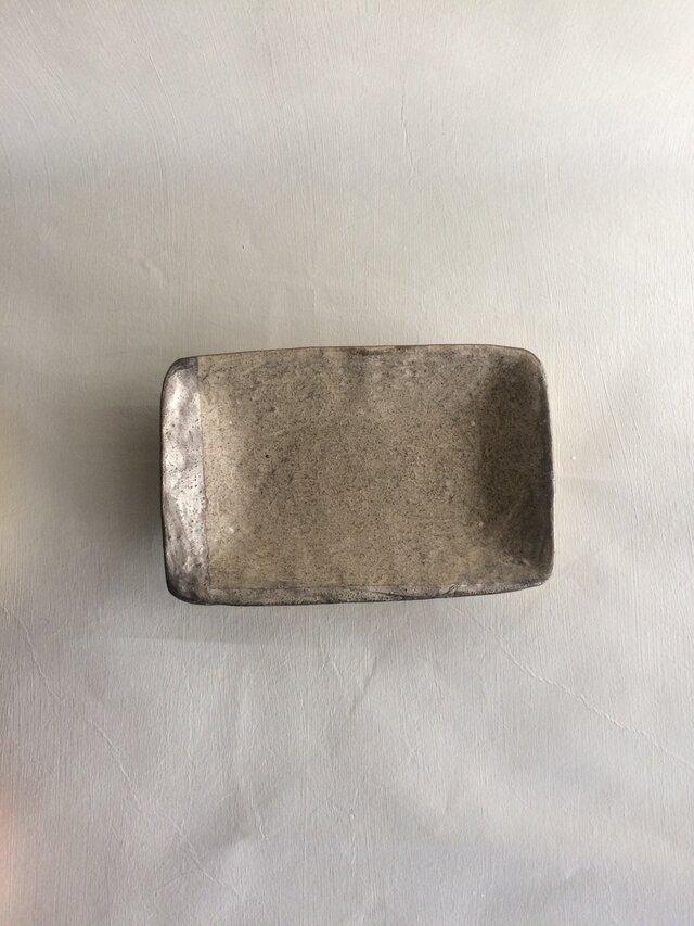 銀彩角鉢の画像1枚目