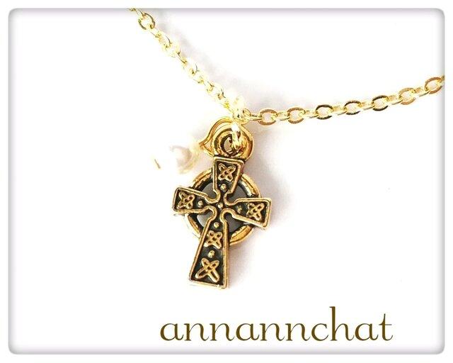 【ケルト 十字架 のネックレス】ケルティック アイルランド クロス 十字の画像1枚目