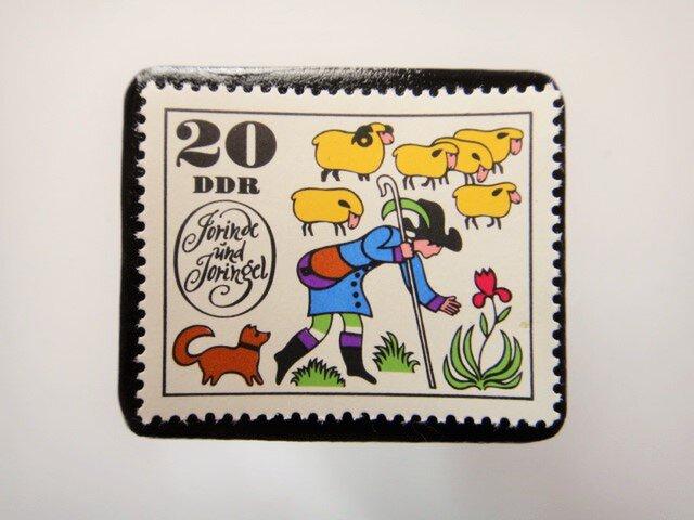 旧東ドイツ  童話切手ブローチ4602の画像1枚目
