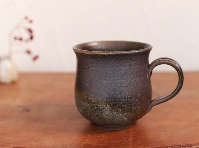 備前 コーヒーカップ(大) c8-056の画像1枚目