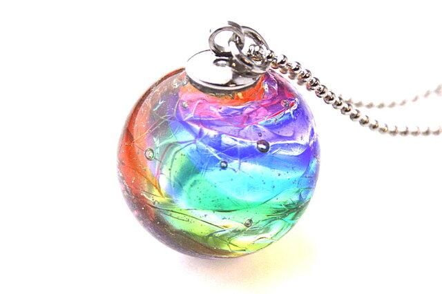 虹のゆらめきのペンダントの画像1枚目