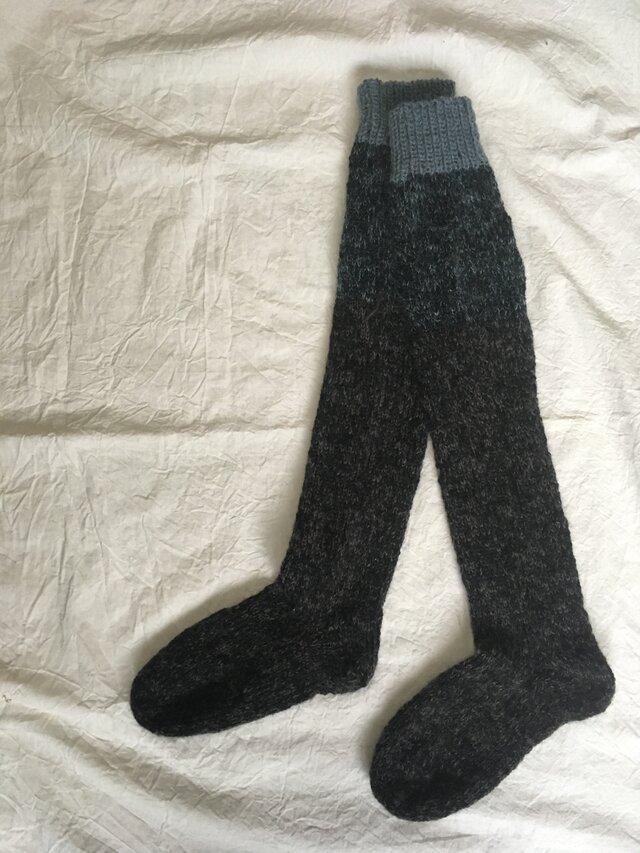 手編みの靴下 ロングの画像1枚目
