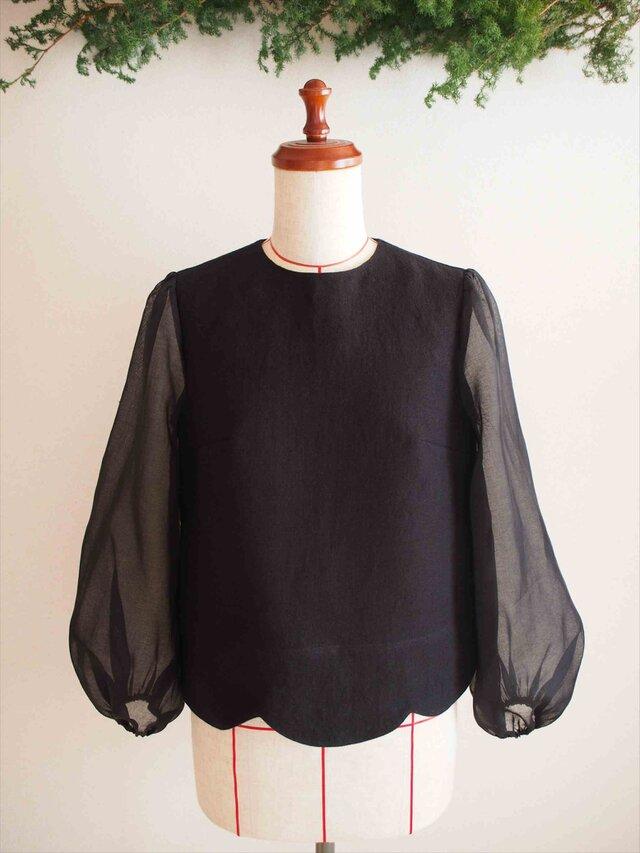 ripple -black blouse-の画像1枚目