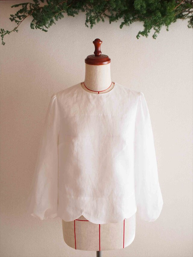 ripple -white blouse-の画像1枚目