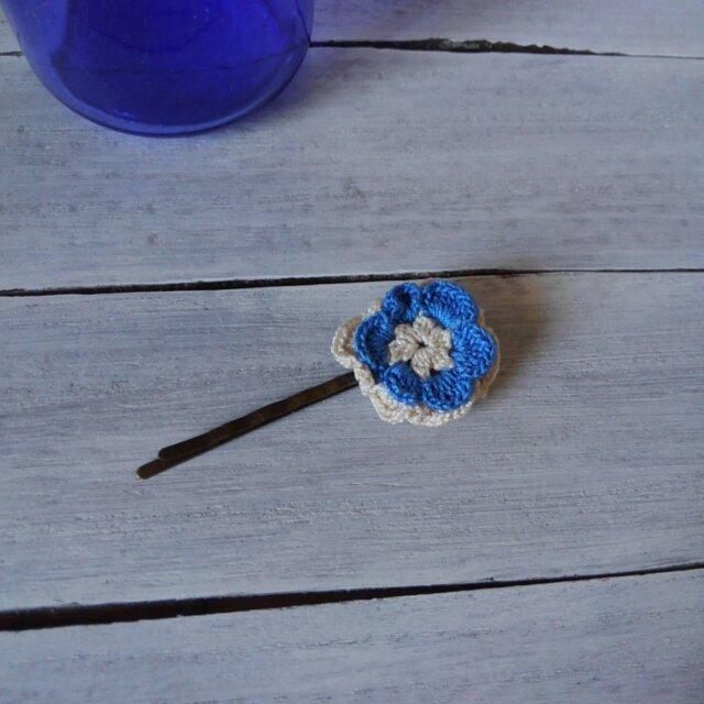レース編みのお花のヘアピンの画像1枚目