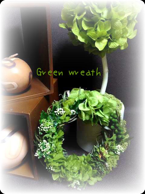 mini Green wreath(リース)の画像1枚目