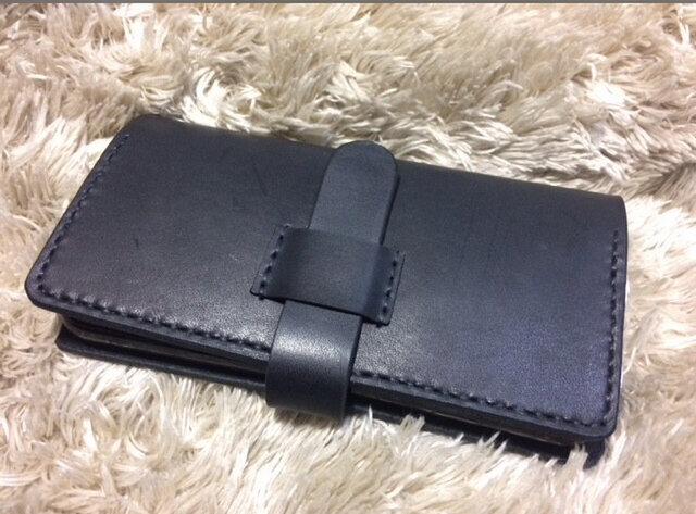 めい様オーダー◆iPhone XS MAX レザーケース ショルダー革紐タイプの画像1枚目