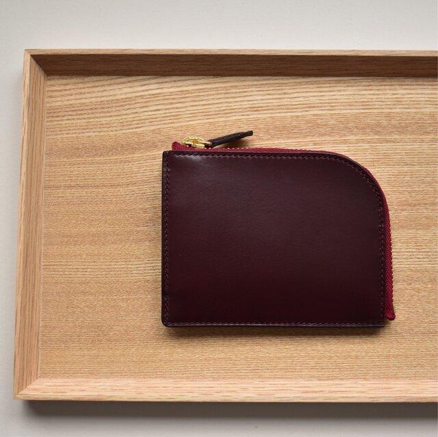 きちんと仕分けてコンパクトなお財布  イタリアンレザー 総手縫いの画像1枚目