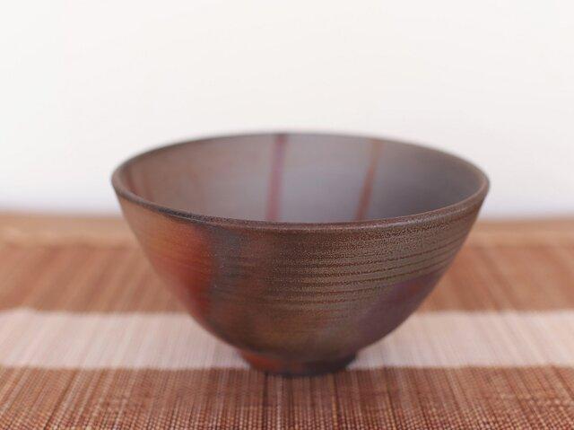 備前焼 飯碗(大) m1-042の画像1枚目