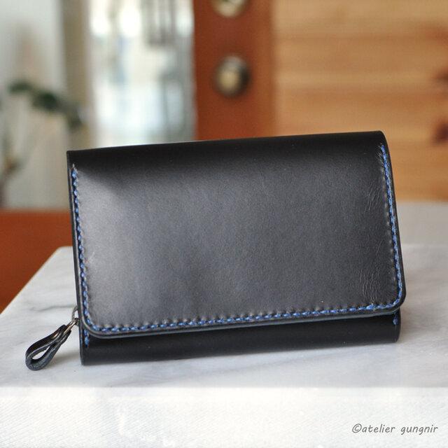 収納性抜群の三つ折り財布 No.4 イタリアンレザーの画像1枚目