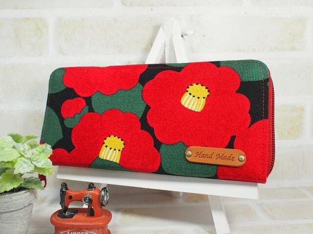 大きな花椿の長財布(スリムタイプ)の画像1枚目