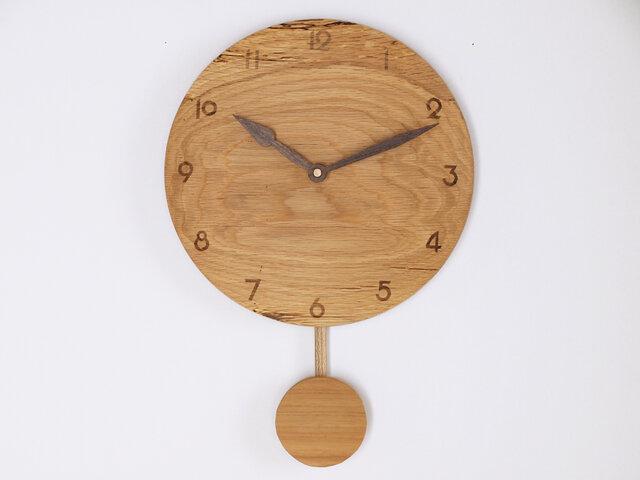 木製 振り子時計 楢材6の画像1枚目
