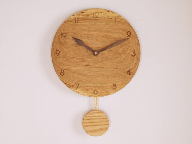 木製 振り子時計 楢材8の画像1枚目