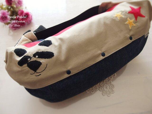 抱っこ紐収納カバー Smiling Panda☆の画像1枚目