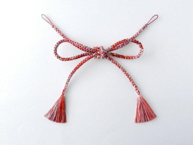 【丸四つ組】手組み羽織紐の画像1枚目