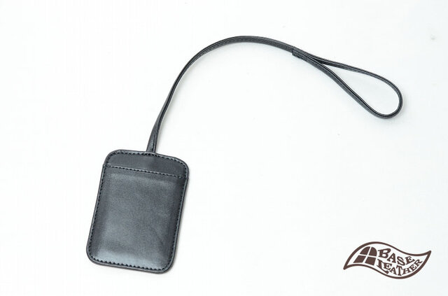 本革パスケース ブラック【日本製】の画像1枚目