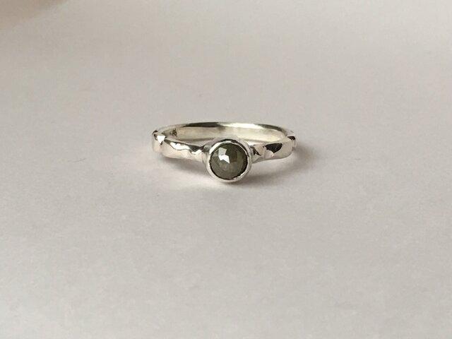 ローズカットのナチュラルダイヤモンドリングの画像1枚目