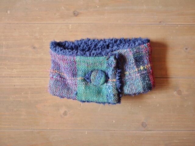 手織り もこもこファーネックウォーマーの画像1枚目