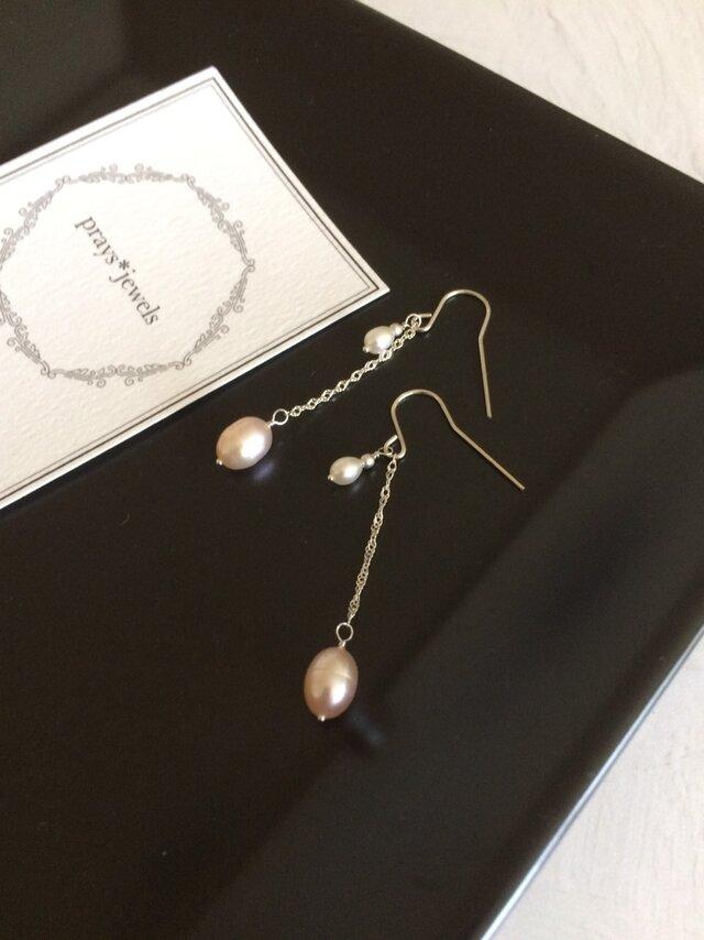 Silver925 rice drop pearlの画像1枚目