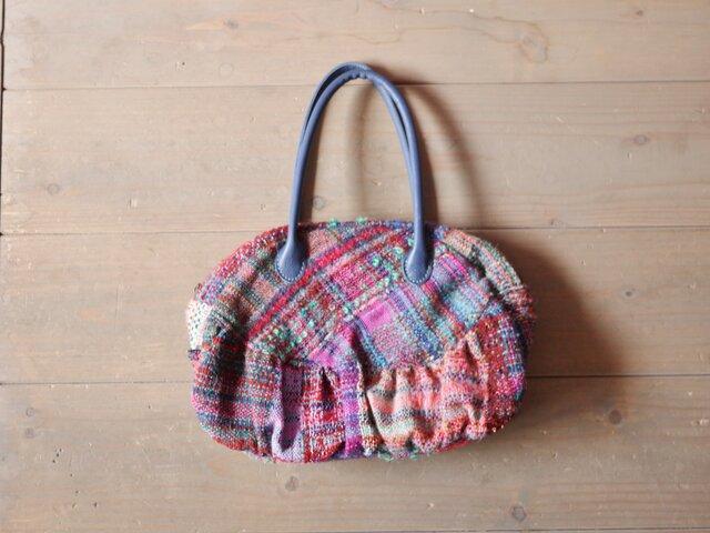 手織り ボストンバッグの画像1枚目
