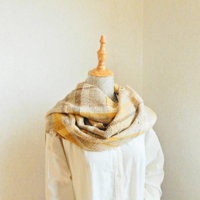 手織りのショール の画像1枚目