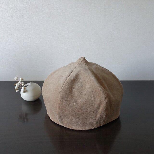 リバーシブルスライム帽 カフェオレ/コーヒーの画像1枚目