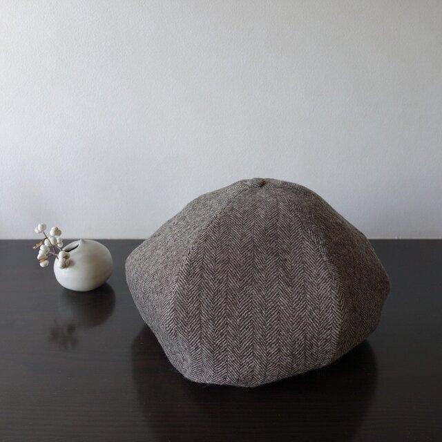 リバーシブルベレー帽 ウールガーゼ/リネンの画像1枚目