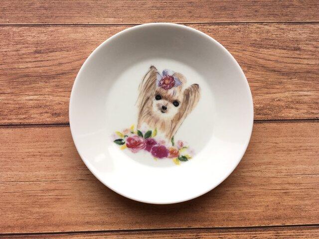 名入れ可! ヨークシャテリア 小皿の画像1枚目