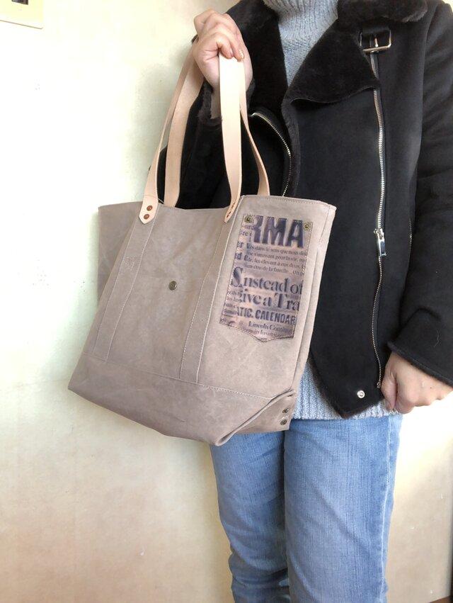 宅急便送料無料☆army duc basic tote bag M+ glay beigeの画像1枚目